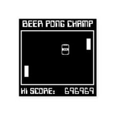 "Beer ""Pong"" Square Sticker"