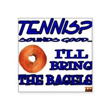 Tennis Bagel Square Sticker