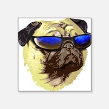 Cool Pug Square Sticker