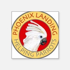 Phoenix Landing Square Sticker