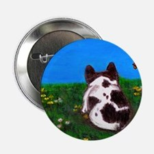 "French Bulldog Painting 2.25"" Button"