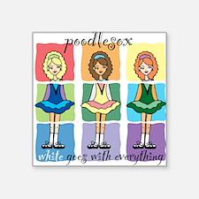 Poodlesox Classic Square Sticker