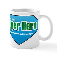 Super Hero in Green and Blue Mug