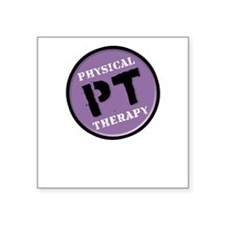 Physical Therapy Logo Square Sticker