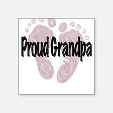 Proud Grandpa (Girl) Square Sticker