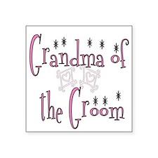 Grandma of the Groom Square Sticker