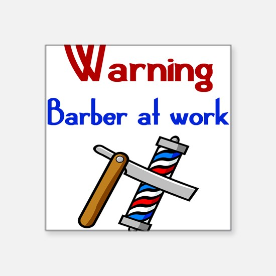 Barber Square Sticker