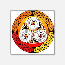 Celtic Triple Spiral T Square Sticker