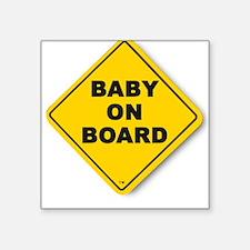 BABY ON BOARD (TM) Square Sticker