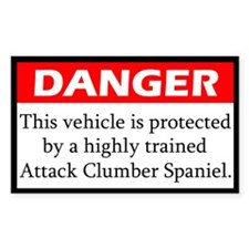 Danger Clumber Spaniel Decal