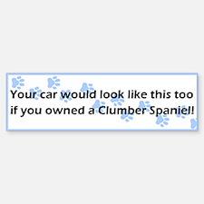 Your Car Clumber Spaniel Bumper Bumper Bumper Sticker