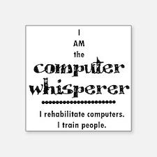 Computer Whisperer Square Sticker