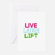 Live Laugh Lift Greeting Cards (Pk of 20)