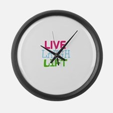 Live Laugh Lift Large Wall Clock