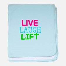 Live Laugh Lift baby blanket