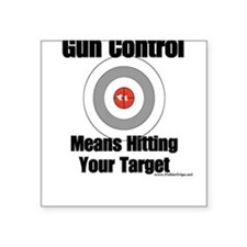 Gun Control Square Sticker