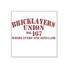 VINTAGE Bricklayers Union Square Sticker