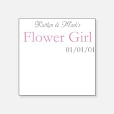 Custom Flower Girl Square Sticker