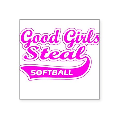 Good Girls Steal (pink) Square Sticker