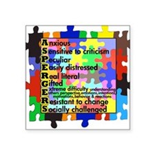 autism aspergers Square Sticker