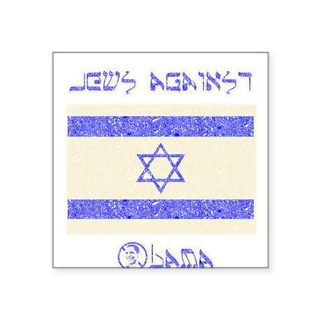 Jews Against Obama Square Sticker