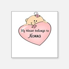 My Heart Belongs Nonna Square Sticker