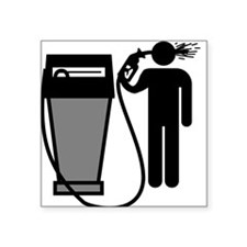 Gas Pump Suicide Square Sticker
