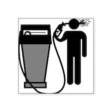 Gas Pump Suicide Square Sticker