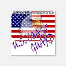 U.S. Coast Guard Creeper Square Sticker