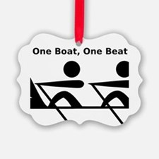 One Boat, One Beat Ornament