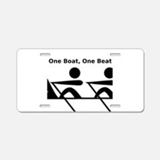 One Boat, One Beat Aluminum License Plate