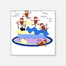 Five little Monkeys... Square Sticker