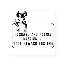 puggle humor Square Sticker Square Sticker