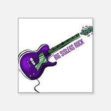 Big Sisters Rock (Purple) Square Sticker