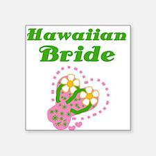 Hawaiian Bride Square Sticker
