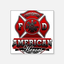 American Heroes Square Sticker