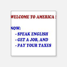 Welcome To America Square Sticker