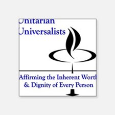 Affirming Worth & Dignity Square Sticker