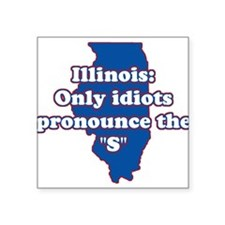 Illinois Square Sticker