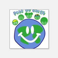 Peas On Earth Square Sticker