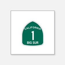 Big Sur, California Highway 1 Square Sticker