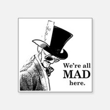 Men's Mad Hatter Square Sticker