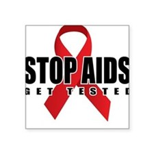 Stop AIDS Square Sticker