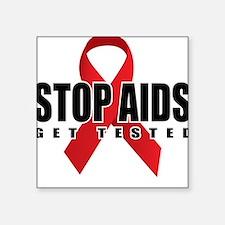 Stop AIDS Square Sticker