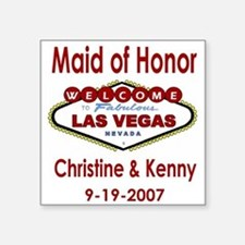 CK Maid of Honor Square Sticker