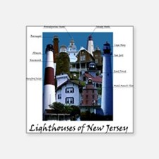 Lighthouses of New Jersey Square Sticker