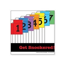 Get Snookered Square Sticker
