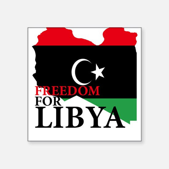 Independence of Libya Square Sticker