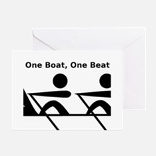 One Boat, One Beat Greeting Card