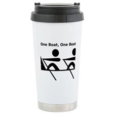 One Boat, One Beat Travel Coffee Mug